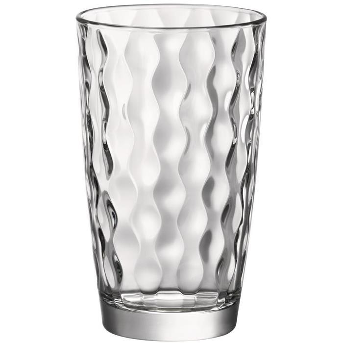 Ποτήρια Σωλήνα Διάφανα Σετ 6τμχ Silk 47cl Bormioli Rocco