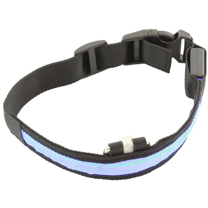 Περιλαίμιο Σκύλου AG232A με φωτισμό Led 34-44cm Μαύρο/Μπλε