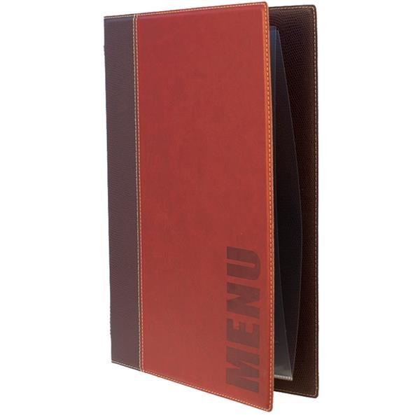 Κατάλογος Menu Trendy A4 για Εστιατόρια/Cafe 24x34cm Securit MC-TRA4-WR Κόκκινος