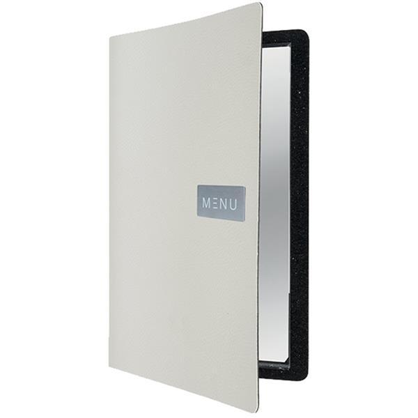 Κατάλογος Menu Δερμάτινος A4 για Εστιατόρια/Cafe Securit MC-LRA4-RWWT Άσπρος