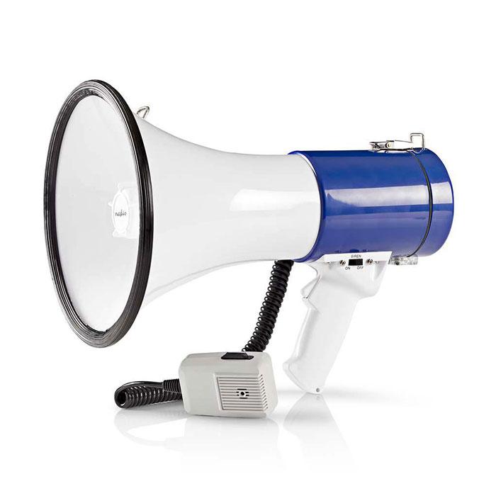 Τηλεβόας με Αποσπώμενο Μικρόφωνο 25W Nedis MEPH200WT Λευκό/Μπλε