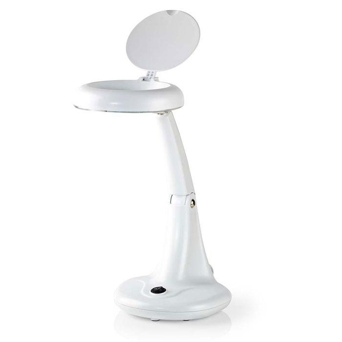 Επιτραπέζιο Φωτιστικό Πάγκου Εργασίας με Μεγεθυντικό Φακό Nedis MAGL12WWT Άσπρο