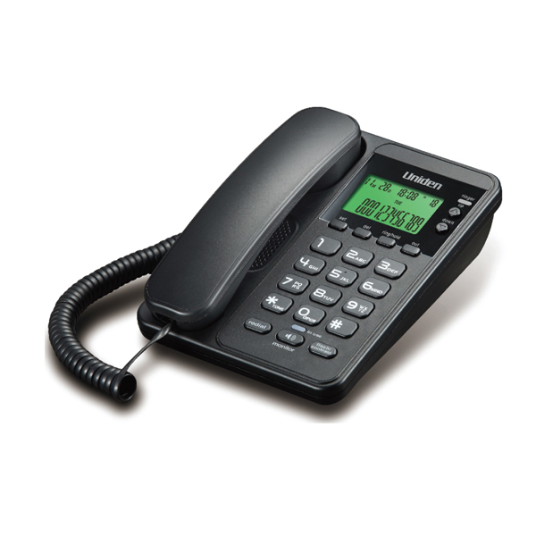 Σταθερό Τηλέφωνο με Οθόνη Uniden AS6404 Μαύρο