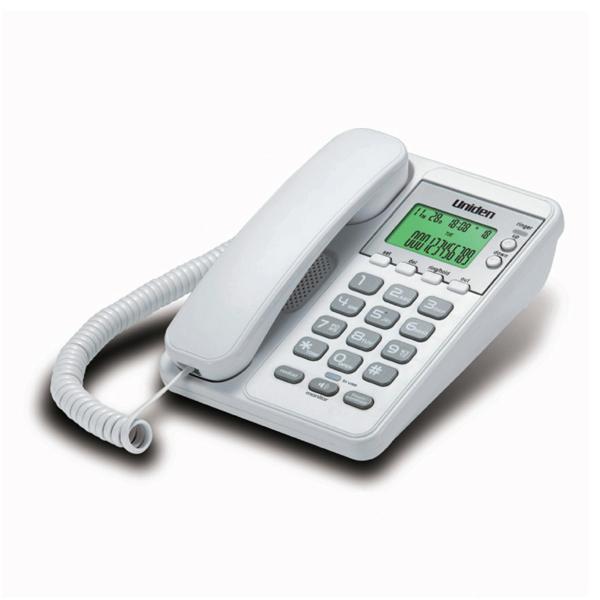 Σταθερό Τηλέφωνο με Οθόνη Uniden AS6404 Λευκό