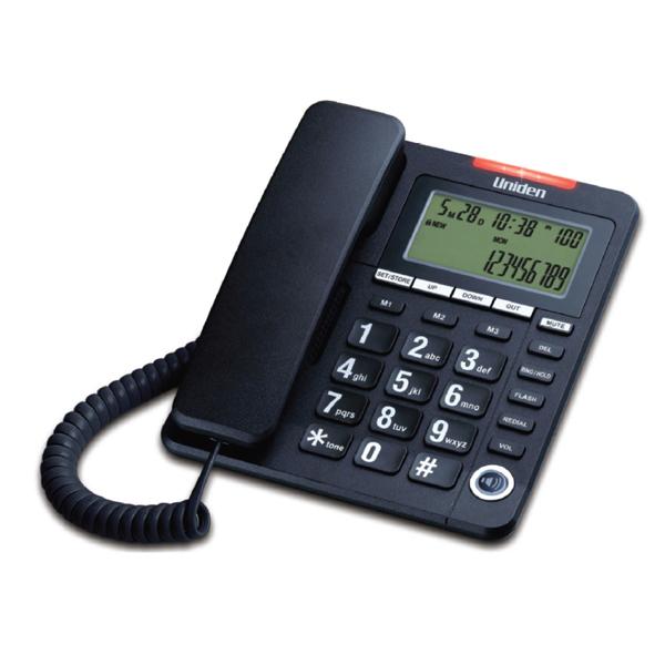 Σταθερό Τηλέφωνο με Οθόνη Uniden AS7408 Μαύρο
