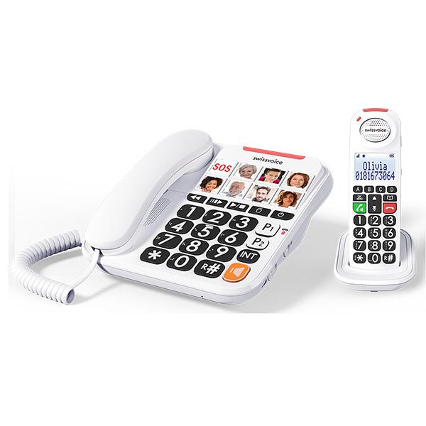 Ασύρματο Τηλέφωνο Swissvoice Xtra Combo 3155 Λευκό