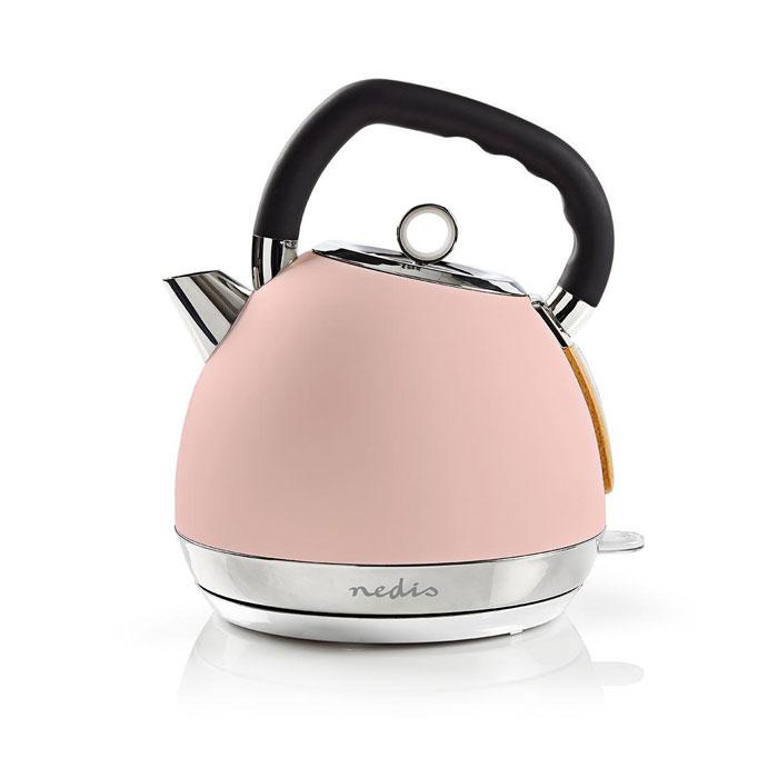 Βραστήρας 1.8lt 2200W Nedis KAWK520EPK Ροζ Soft-Touch