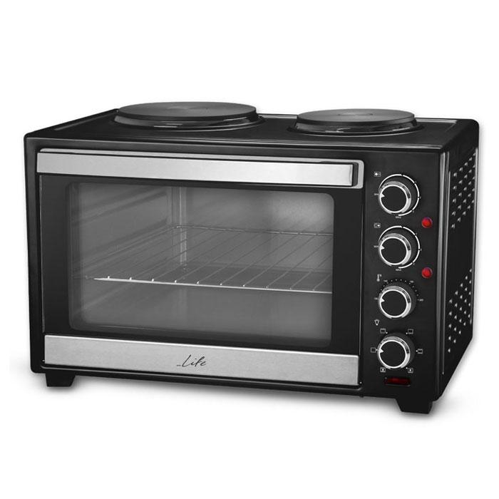 Ηλεκτρικό Κουζινάκι 30lt με Κυκλοφορία Θερμού Αέρα & 2 Εστίες Life Kouzinaki 302