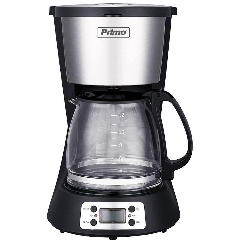 Καφετιέρα Φίλτρου Primo PRCM-40250 Digital Eco 1.5lt Μαύρη-Inox