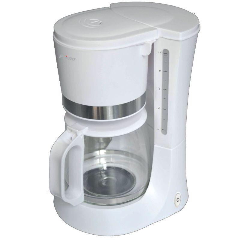Καφετιέρα Primo CM6636E Eco 1.2lt Λευκή/Inox