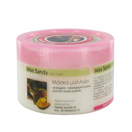Miss Sandy, Μάσκα Μαλλιών, Avocado, Για Βαμμένα Ταλαιπωρημένα Μαλλιά, 500ml ygeia peripoihsh ygieinh malaktika maskes